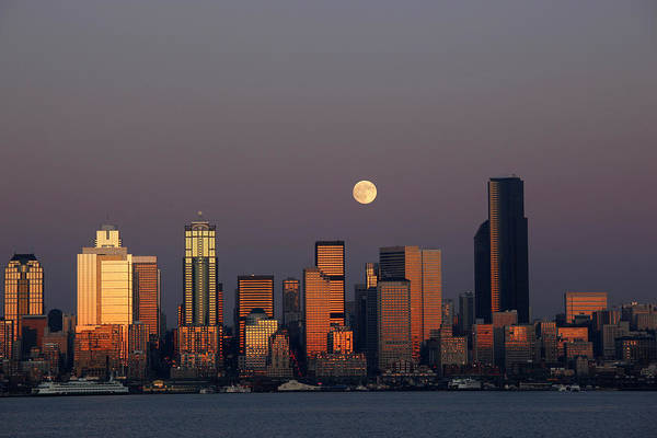 Elliott Bay Photograph - Wa, Seattle, Seattle Skyline by Jamie and Judy Wild