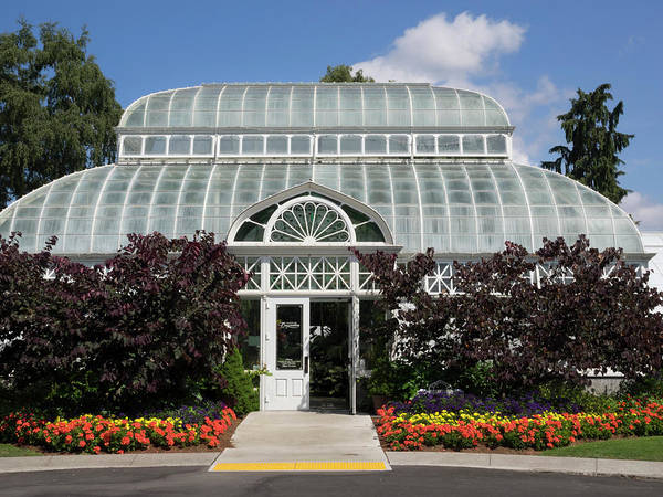 Conservatory Photograph - Wa, Seattle, Volunteer Park Conservatory by Jamie and Judy Wild
