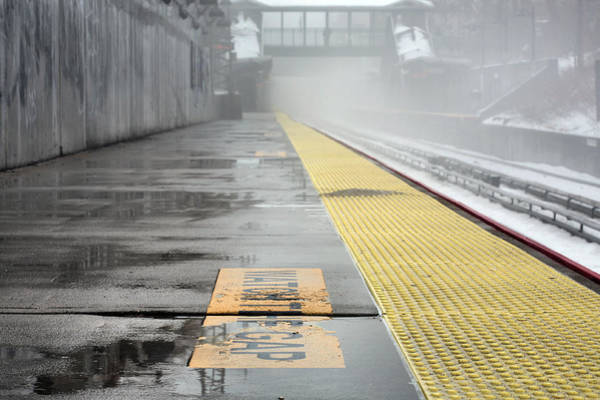 Photograph - Waiting On A Train by JC Findley