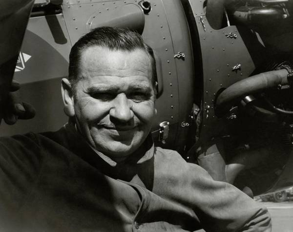 Head And Shoulders Photograph - Wallace Beery In Front A An Airplane by Imogen Cunningham
