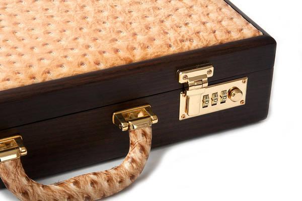 Photograph - Walnut Ostrich Brief Case by Gunter Nezhoda