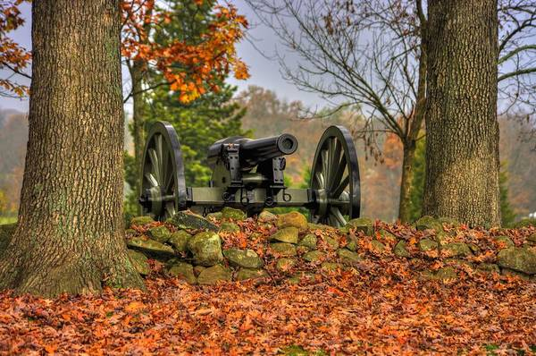 Wall Art - Photograph - War Thunder - The Charlotte North Carolina Artillery Grahams Battery West Confederate Ave Gettysburg by Michael Mazaika