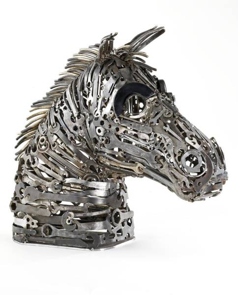 Horse Head Painting - Warhorse by Lawrie Simonson