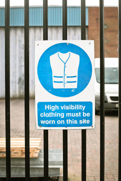 Blue Jackets Photograph - Warning Sign by Tom Gowanlock