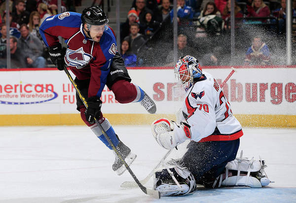 National Hockey League Photograph - Washington Capitals V Colorado Avalanche by Doug Pensinger