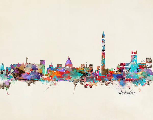 Washington State Wall Art - Painting - Washington Dc  by Bri Buckley