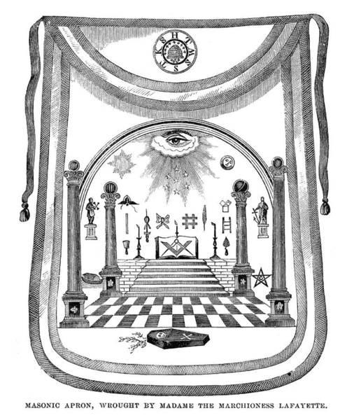 Painting - Washington Masonic Apron by Granger