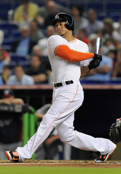 Giancarlo Stanton Photograph - Washington Nationals V. Miami Marlins by Rhona Wise