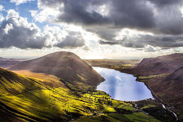 Wast Wall Art - Photograph - Wastwater From Scafell Pike by Paul Madden