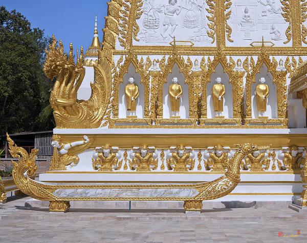 Photograph - Wat Nong Bua West Side Of Main Stupa Base Dthu447 by Gerry Gantt