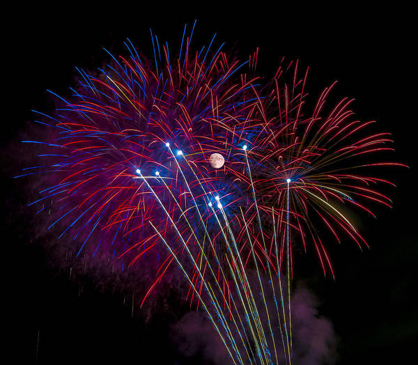 Photograph - In The Middle Of It All - Fireworks by Penny Lisowski