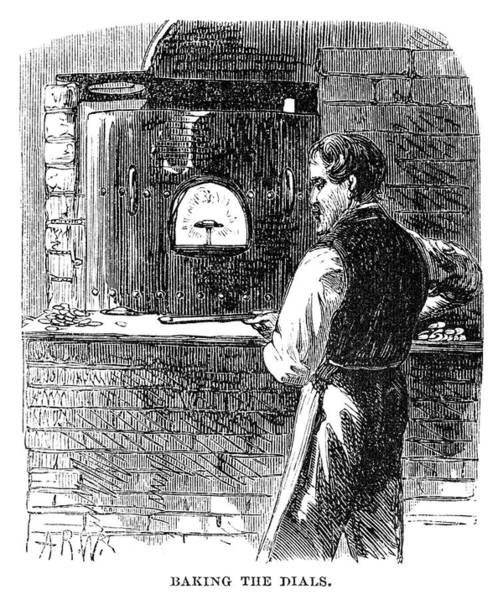 Dial Painting - Watchmaker, 1869 by Granger
