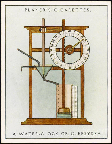 Photograph - Water Clock by Mary Evans