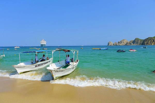 Lucas Photograph - Water Taxi, Medano Beach, Cabo San by Douglas Peebles