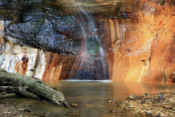 Oxidised Photograph - Waterfall by Michael Szoenyi/science Photo Library