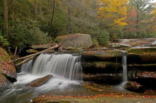 Mill Shoals Falls Wall Art - Photograph - Waterfall Near Nc 215 Translyvania County Nc by Willie Harper