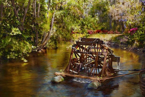 Wall Art - Painting - Waterwheel by Noel Steele