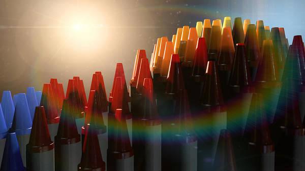 Back-to-school Digital Art - Wax Crayons Imagination by Allan Swart