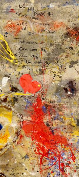 Painting - We All Bleed The Same Color II by Giorgio Tuscani