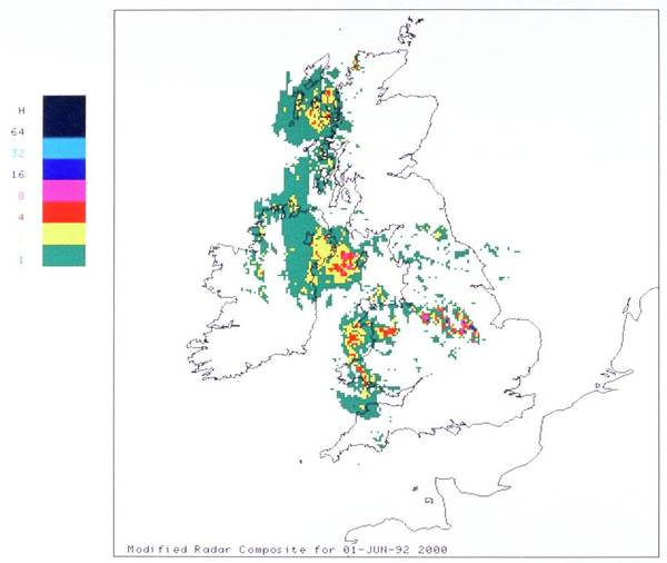 Met Photograph - Weather Radar Display Sequence by British Crown Copyright, The Met Office / Science Photo Library