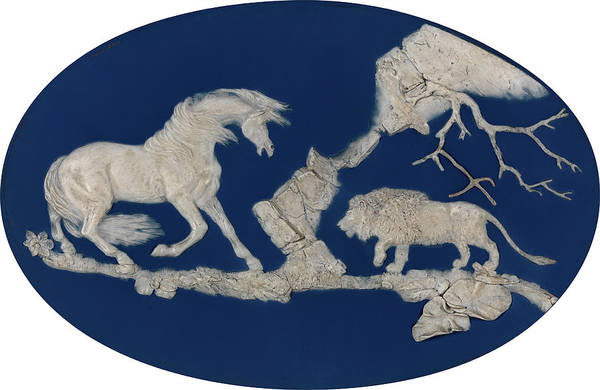 Frightening Drawing - 1 Wedgwood Horse Frightened By A Lion Episode by Litz Collection
