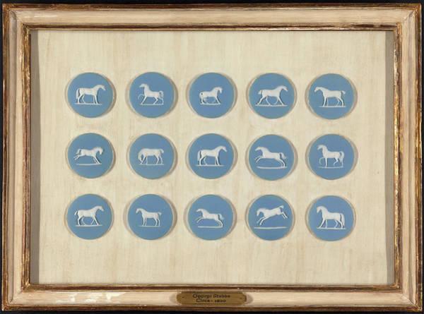 1 Wedgwood Horse Studies In Relief, After George Stubbs Art Print