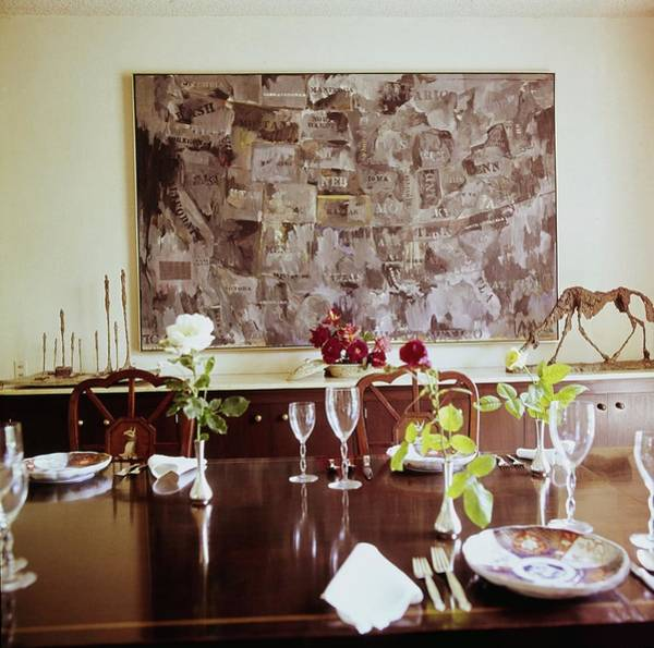 Modernist Photograph - Weisman's Dining Room by Horst P. Horst