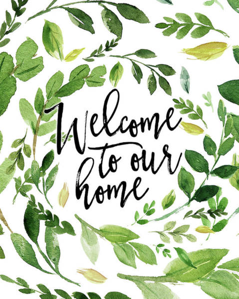 Home Painting - Welcome To Our Home by Tara Moss