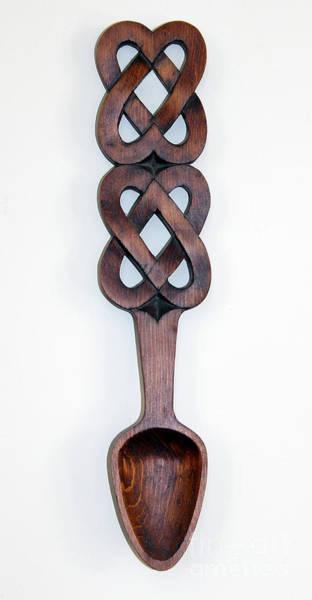 Photograph - Welsh Love Spoon By George Wood by Karen Adams