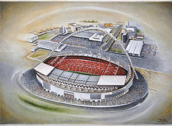 Wall Art - Painting - Wembley Stadium by D J Rogers