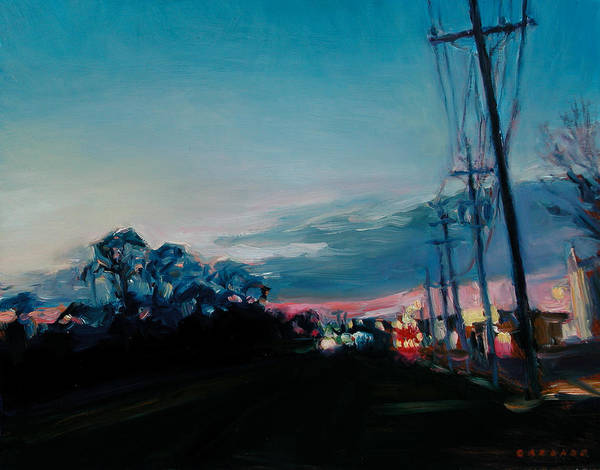 Utility Poles Painting - West On 70 by Jesse Gardner