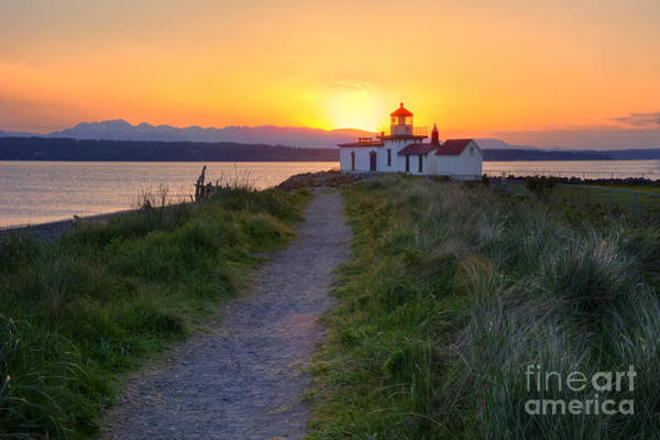 Elliot Bay Wall Art - Photograph - West Point Lighthouse by Eddie Yerkish