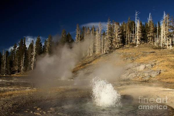 Triplets Photograph - West Triplet Geyser by Adam Jewell