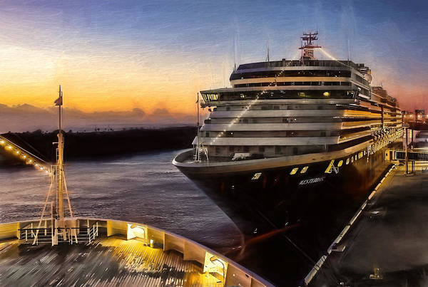 Holland America Line Wall Art - Photograph - Westerdam by Maria Coulson