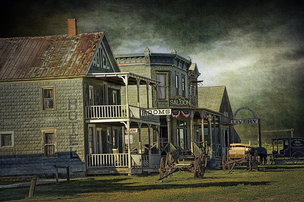 Photograph - Western 1880 Town In South Dakota by Randall Nyhof