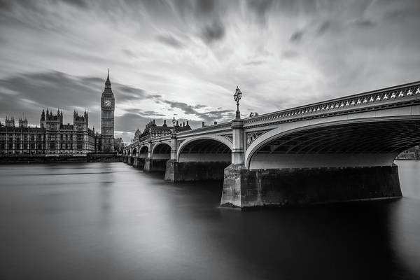 Westminster Bridge Photograph - Westminster Serenity by Nader El Assy