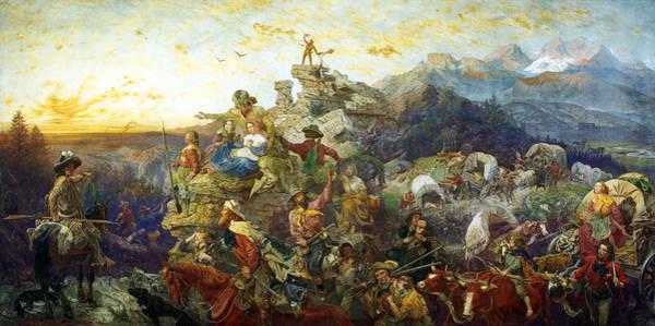 Emmanuel Wall Art - Painting - Westward Ho by Emanuel Leutze
