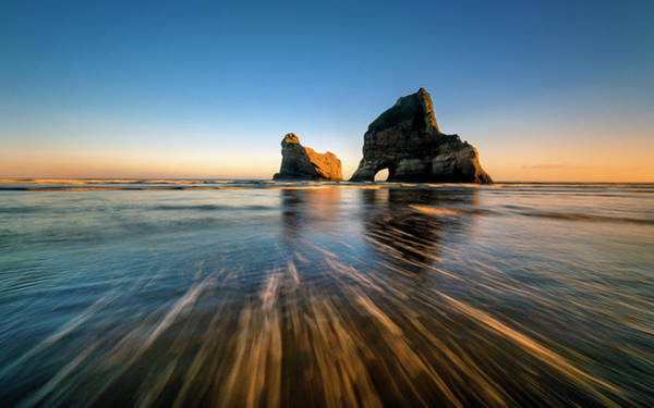 Shore Photograph - Wharaiki Beach by Hua Zhu