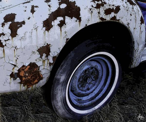Photograph - Wheel Baby Blue by Wayne King