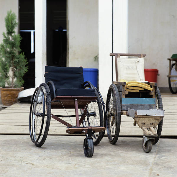 Cambodia Photograph - Wheelchair Design by David Constantine/science Photo Library