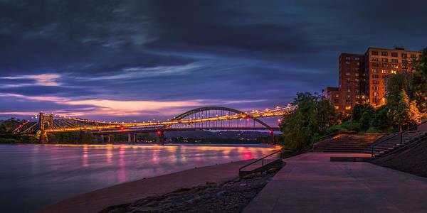 Photograph - Wheeling Suspension Bridge  by Mary Almond