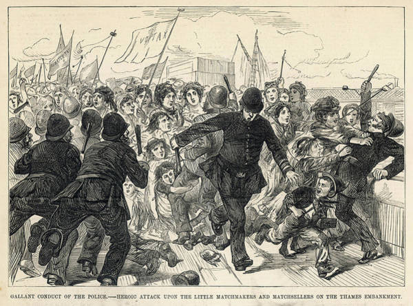 Wall Art - Drawing - When London Match Workers Protest by Mary Evans Picture Library