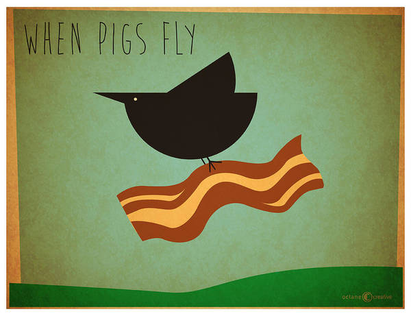 Digital Art - When Pigs Fly by Tim Nyberg