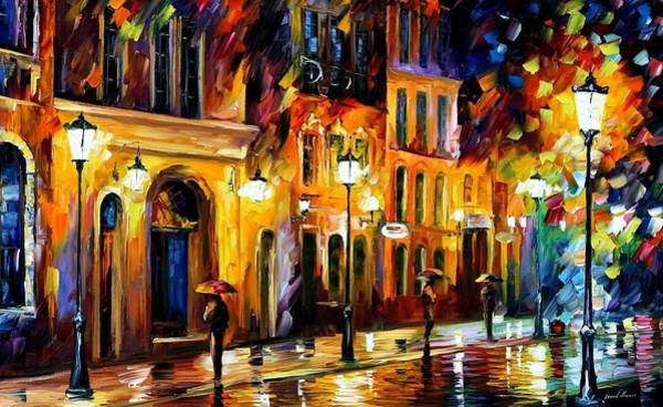 Wall Art - Painting - When The City Sleeps by Leonid Afremov
