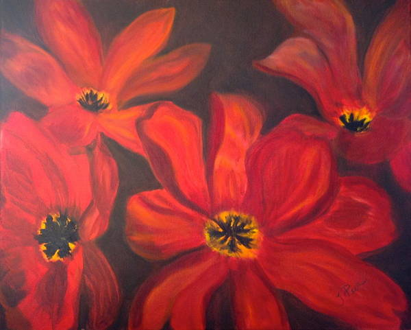Amaryllis Painting - Whimsical Floral by Tracey Peer