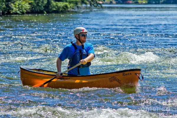 Photograph - Whitewater Canoe by Les Palenik