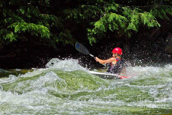 Photograph - Whitewater Kayak by Les Palenik