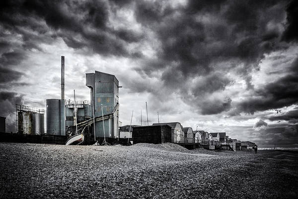 Cement Photograph - Whitstable Beach by Ian Hufton