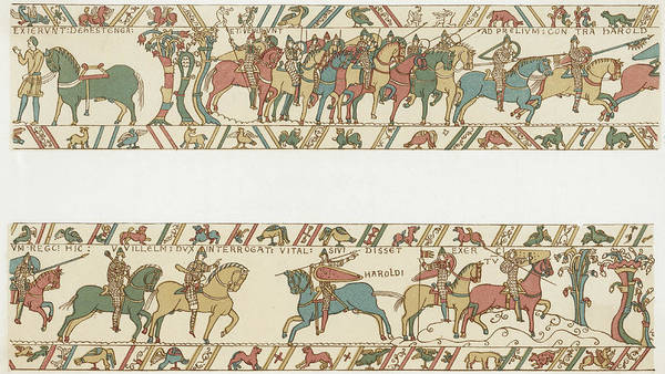 Wall Art - Drawing - William And His Men Advance To  Meet by Mary Evans Picture Library