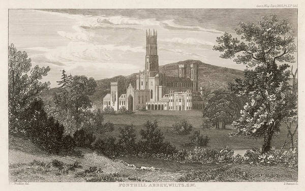 Wall Art - Drawing - William Beckford  Fonthill Abbey by Mary Evans Picture Library